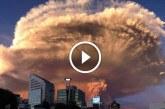 Negyven év után újra kitört a chilei vulkán! Szenzációsan látványos képsorok!