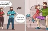 15 vicces illusztráció arról, hogy mit jelent apának lenni